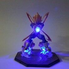 Аниме Dragon Ball Z Vegeta Супер Saiyan светодиодный светильник Kamehameha аниме Dragon Ball супер ПВХ Фигурки Модель игрушки