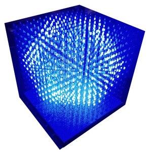 Image 2 - 3D12 RGB121212 Full Color Kubieke Led Cubic Diy Kit Halffabrikaten Zonder Shell 12*12*12 Glazen Gratis 3D