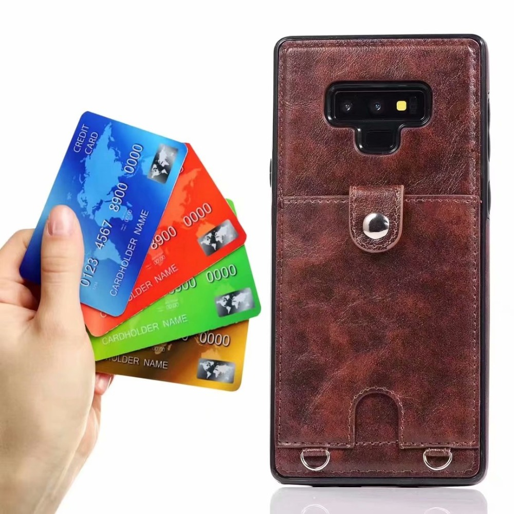 For samsung galaxy note 9 8 s8 s9 plus case cover pu leather wallet card shoulder strap phone bag cases for samsung s7 edge in Wallet Cases from Cellphones Telecommunications