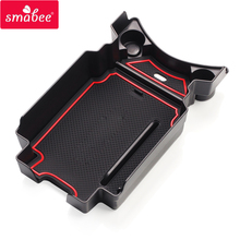 smabee Car central armrest box For Honda civic 2015-2017 Interior Accessories Stowing Tidying RED
