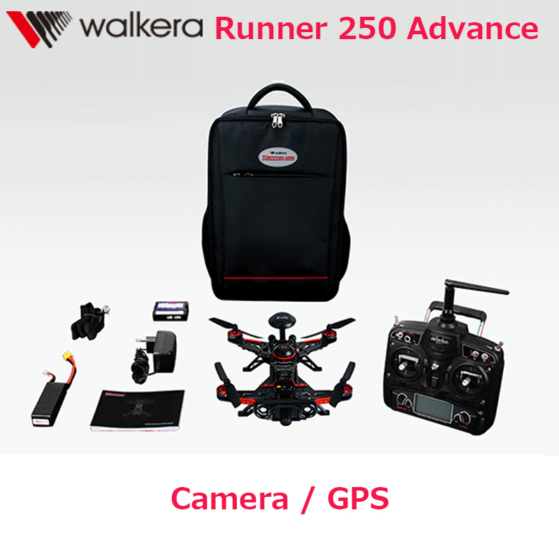 Original Walkera Runner 250 Advance quadcopter with DEVO 7 / OSD /800TVL Camera/Backpack Runner 250(R) GPS RC Drone RTF