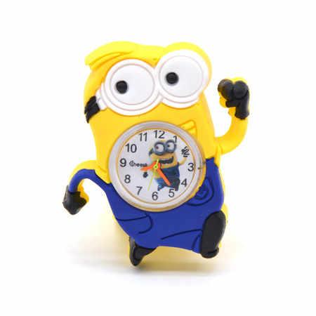 ילדים שעונים 3D עין נתעב אותי minion Cartoon שעון יקר חלב אבא חמוד ילדי שעון תינוק קוורץ יד שעונים טפיחה רצועה
