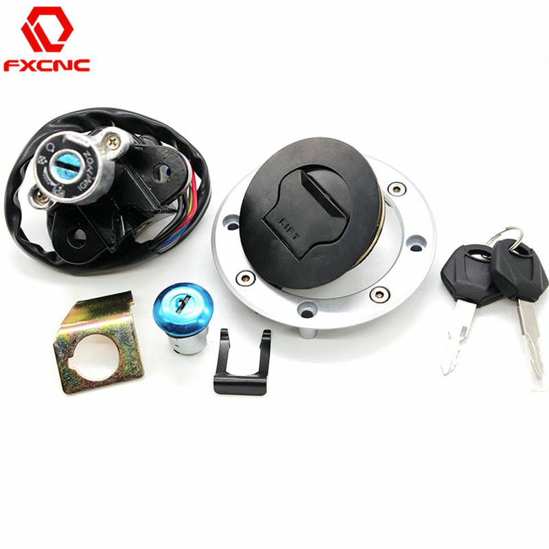 For Suzuki SV650 GSXR600/750/1000 GSX1400 DL1000 CNC Motorcycle Ignition Switch Lock Fuel Gas Tank Cap Cover Seat Handle Locks