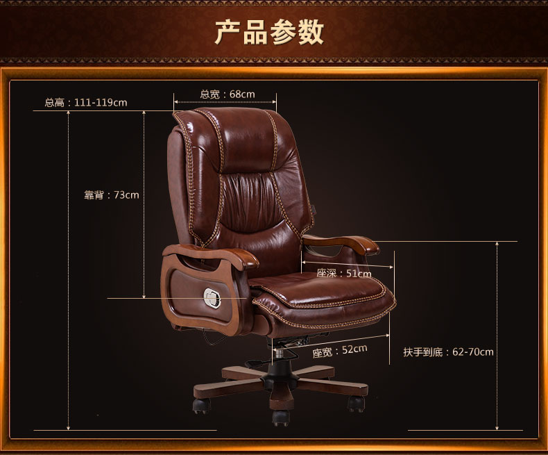 Купить с кэшбэком Leather computer chair. Household massage. Can lie cowhide of large chair