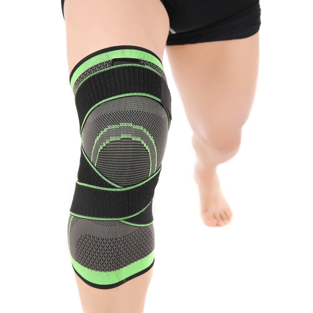 Professionelle Schutz Sport Knie Pad Basketball Tennis Wandern Radfahren Knie Unterstützung Atmungsaktiv Bandage Knie Hülse Pads Klammer