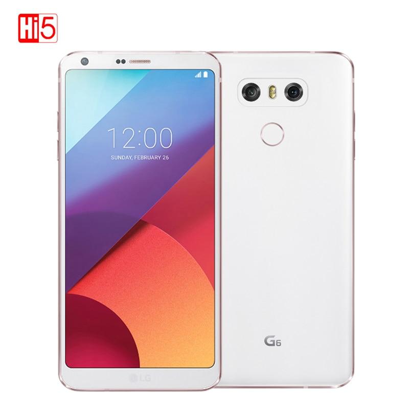 Оригинальный LG G6 мобильный телефон 4 г Оперативная память 64 г Встроенная память четырехъядерный процессор Dual 13MP Камера 821 один/ dual SIM 4 г LTE 5,7 д...