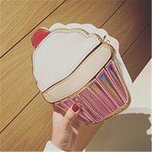 Creative Style Woman Hamburger Ice Cream shoulder bags Cupcake PU Chains bags Cute Hamburger Popcorn Fries 3D Messenger Bags