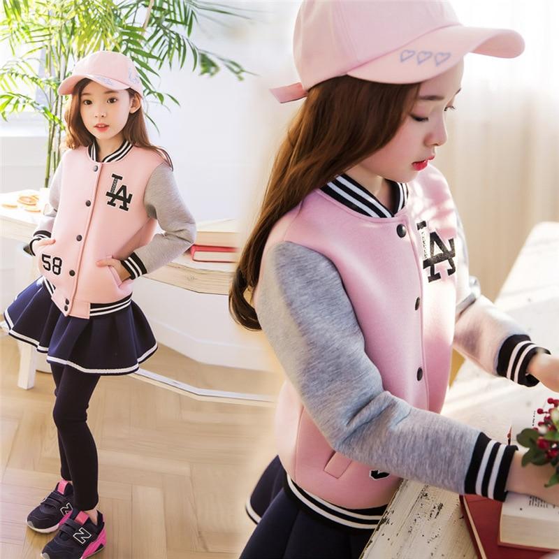 Kids girl sports wear girl's autumn sets children sports suit baby Girls Clothing Sets  girl Jacket+ Pants skirt 2pcs