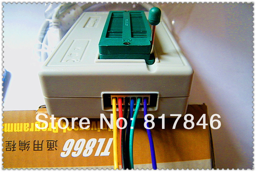 Russian Files 100% original XGECU V7.32 TL866II PLus TL866A PIC BIOS USB nand flash 24 93 25 Universal Programmer+16adapters