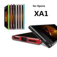 For Sony Xperia XA1 Phone Cases Luxury Ultra Thin Aluminum Metal Bumper Case Frame Cover For