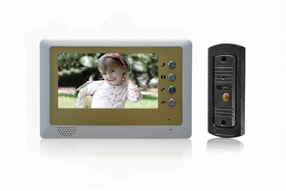 7 inch Metal Case Hands-free Intercom Video Door Phone