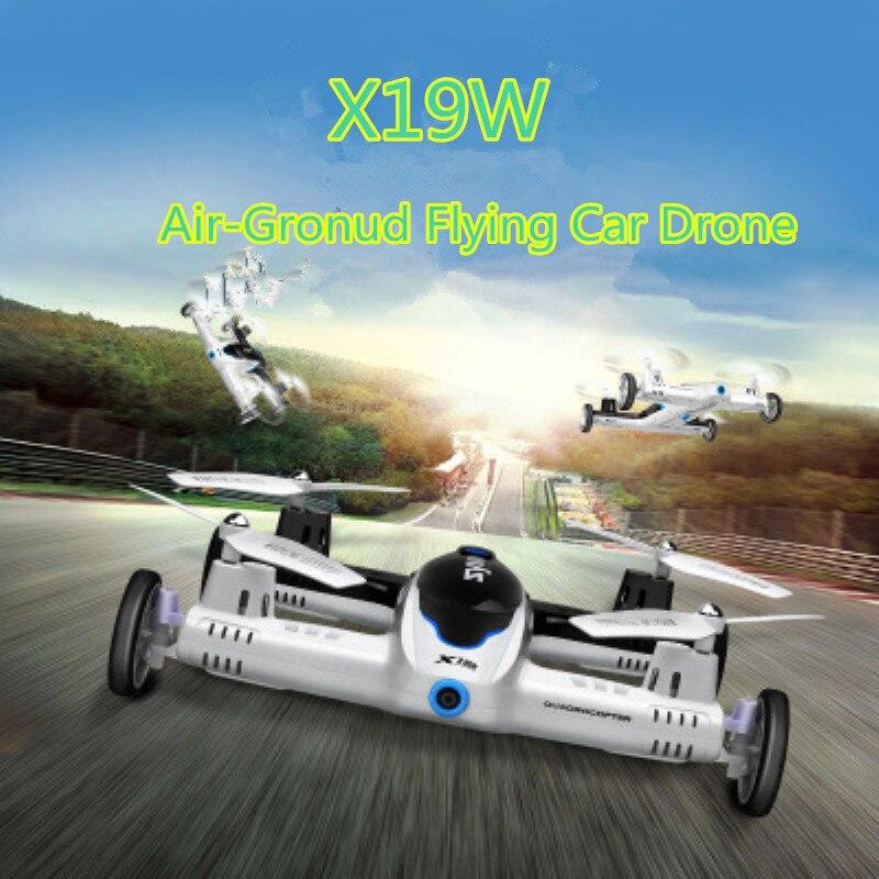 Nouveau Air-Gronud Voiture Volante drone jouet avec 360 Degrés Flip 720 P caméra fpv transmission en temps réel 3D flip sans tête mode enfant gif