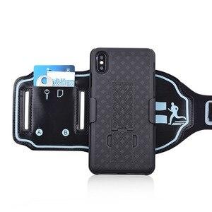 Image 3 - スポーツケース腕章 iphone 11 pro x xr xs 最大カバー運動電話ホルダーアームバンドキックスタンドバックケースシェル
