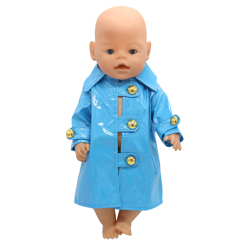 Baby Born Doll Clothes Blue Leather Jacket Fit 43cm Zapf Baby Born Doll Accessories Girl Birthday Gift X-157