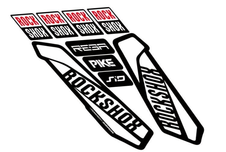 Reflective Road MTB Bike Bicycle Frame Stickers Rockshox Logo Fork Decals
