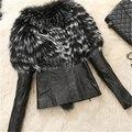 2016 Winter New Fashion Female Furry Mex  Furs Faux Fox Fur Women Medium Long Luxury Fake Fur A70