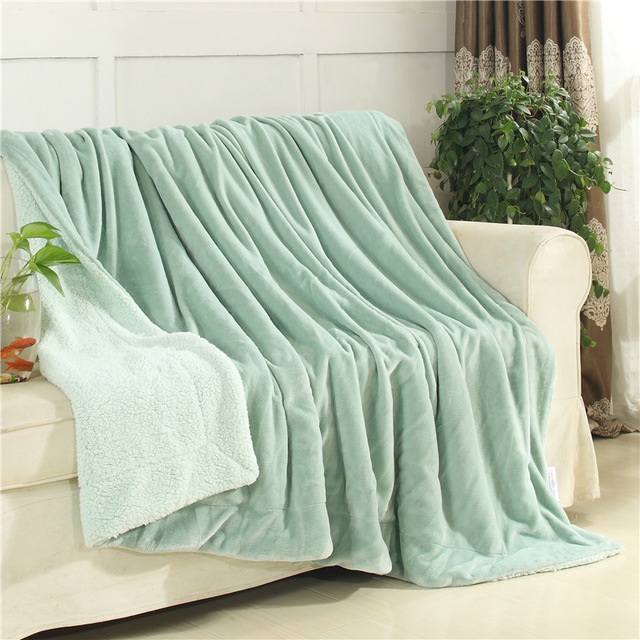 Winter Lamb Wool Blankets Home Weighted Sofa Bedding Throws Thicken Flannel Blanket Warm Super Soft