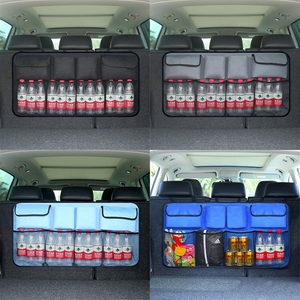 Image 3 - Auto Car Organizer Trunk Back Seat Universal Storage Bag Mesh Net Pocket Bag 4 Colors