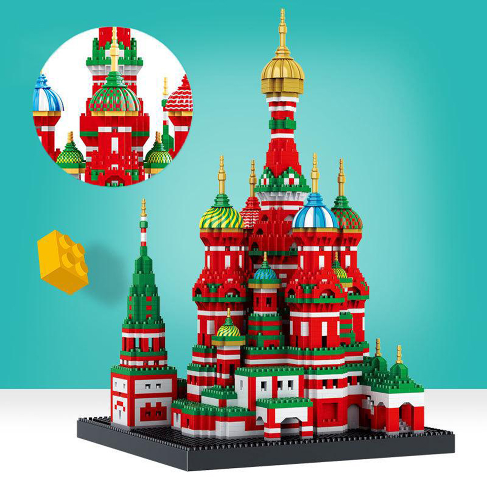 Mini  Blocks Architecture Saint Basils Cathedral Building Blocks Model World Classic Compatible LegoING City Kids Toys GiftsMini  Blocks Architecture Saint Basils Cathedral Building Blocks Model World Classic Compatible LegoING City Kids Toys Gifts