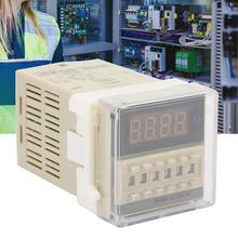 цена на 0.01S-99H 8 Pins Digital Time Relay DH48S-S-2Z Durable LCD Display Time Timer Delay Relay 12VAC/DC 24VAC/DC 220VAC 380VAC