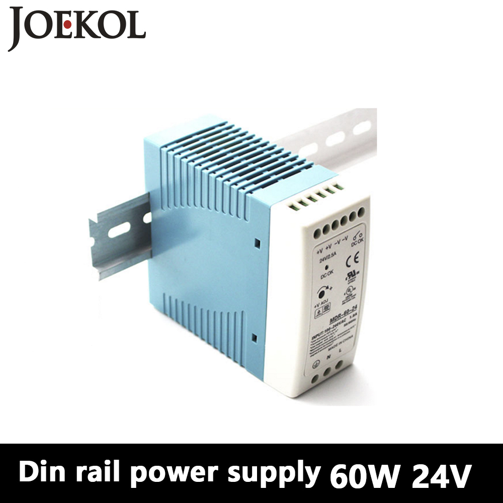 MDR-60 Din Rail Power Supply 60W 24V 2.5A,Switching Power Supply AC 110v/220v Transformer To DC 24v,ac dc converter dr 240 din rail power supply 240w 48v 5a switching power supply ac 110v 220v transformer to dc 48v ac dc converter