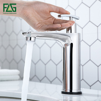 FLG Smart Touch Sensor Sensitive Basin Faucets Stainless Steel Tap Touch Control Bathroom Faucet With Soap Dispenser CP1056 11C