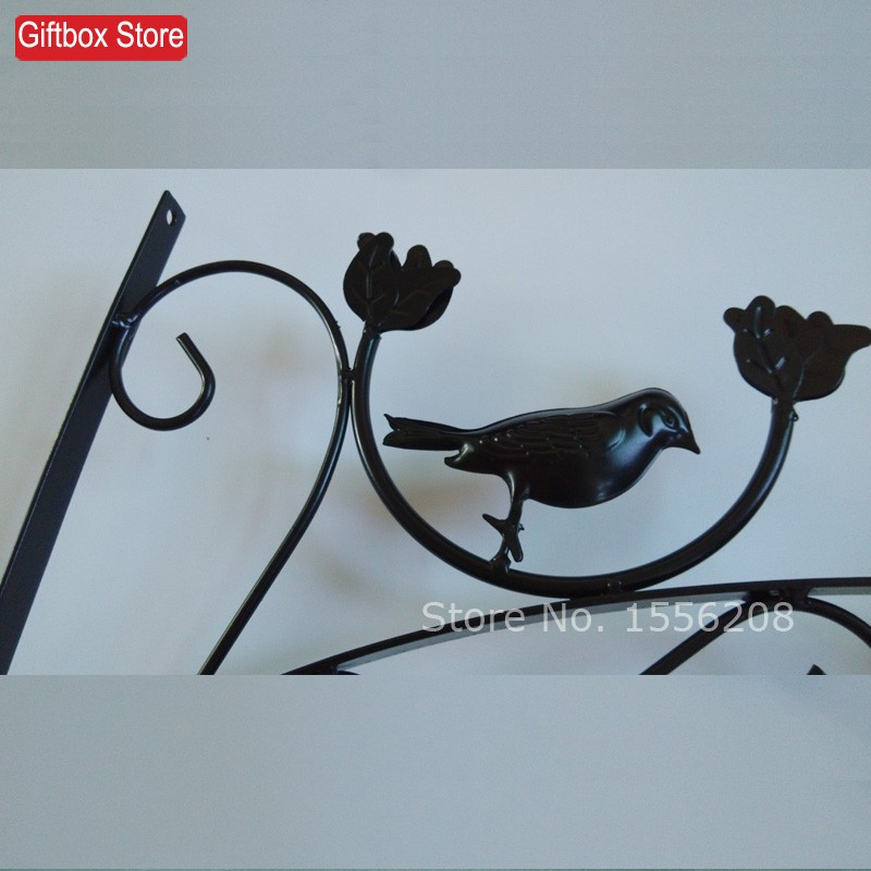 Wrought iron wall hanging shelf outdoor balcony hanging basket ...
