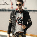 Dusen Klein Brand Men Genuine Leather Jacket Sheepskin Motorcycle Jackets DK035