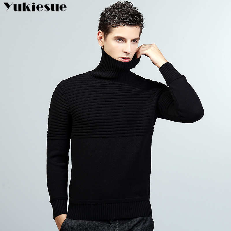 Merino Wool Sweater Men Casual Classic Turtleneck Pull Homme 2018 Winter Soft Warm Cashmere Men's Pullover Sweaters
