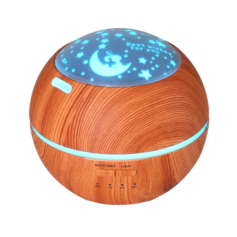 7-Colors-Changing-Light-Projector-14W-Ultrasonic-Humidifier-Last-Work-5-to-8-Hours-Aromatherapy-Essential