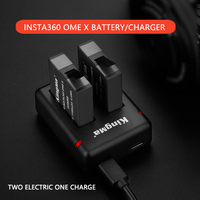 For insta360onex battery for insta360 one x panoramic motion camera battery accessory for insta360 one x battery charger set