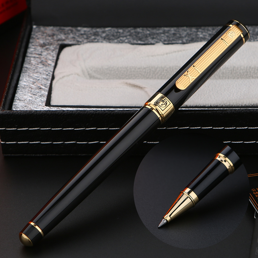 Picasso 1pcs 0.5mm Fountain Pen with Gift Box Metal Golden Calligraphy Practice Pens School Office Supplies italic nib art fountain pen arabic calligraphy black pen line width 1 1mm to 3 0mm