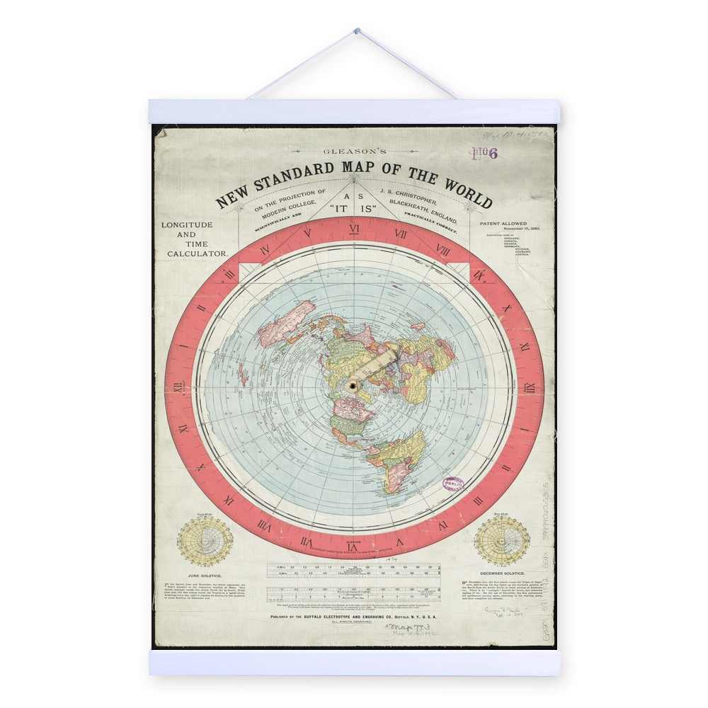 Official Flat Earth Map.Detail Feedback Questions About 1892 Flat Earth Map Wooden Framed