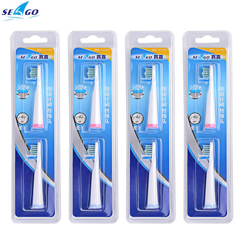 4 pcs SEAGOToothbrush Heads Clean  Electric Toothbrush Replacement Heads Oral Vitality Oral Hygiene Toothbrush Heads-3234 waterpulse 4pcs toothbrush heads oral hygiene rotary electric toothbrush heads clean replacement soft bristles1