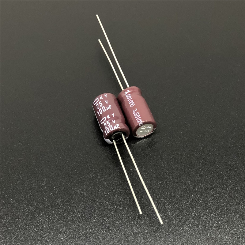 10pcs 100uF 25V NIPPON KY Series 6.3x11mm Low Impedance Original 25V100uF Motherboard Capacitor