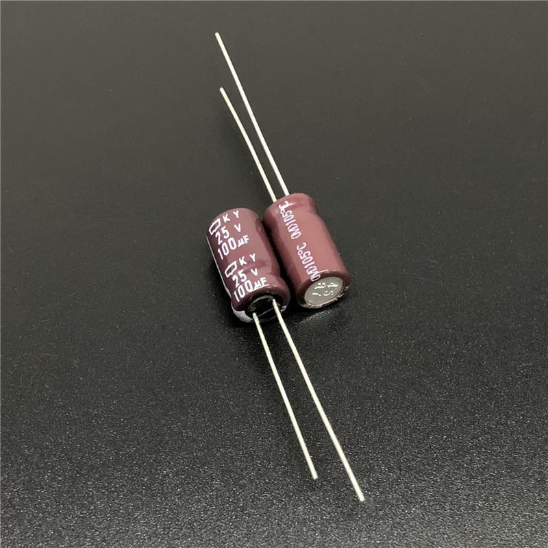 10pcs 100uF 25V NIPPON KY Series 6.3x11mm Low Impedance Original 25V100uF Motherboard Capacitor