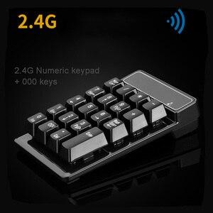 Image 4 - New Promotion 2.4G Wireless Digital Key Keyboard Suspension Mechanical Feel 19 Key Equipment Accounting Bank Keypad Report