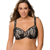 Victoria S Masquerade Women S Plus Size Bra Minimizer BH Passion Lace Balconette Bra For Big