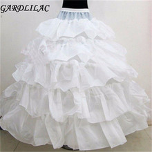 2017  4 Hoops 5 Layers Wedding Bridal Petticoat Underskirt Crinolines For Ball Gown Wedding Dresses Accessories Hot Selling
