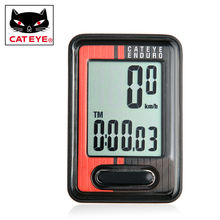 Original CATEYE Enduro Cycling MTB Mountain Bike Digital Computer Speedometer With Heavy Duty Wire Red ED400 цены