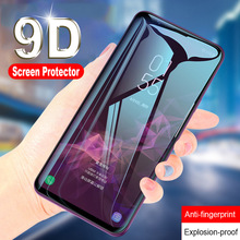 цена 9D Tempered Glass For Samsung Galaxy A7 2018 A3 A5 A7 2017 A6 A8 Plus 2018 Screen Protector For Samsung J4 J6 Plus J8 2018 Glass