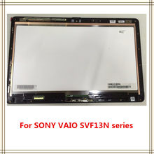 "Baru Asli dengan Bingkai 13.3 ""untuk Sony VAIO Flip SVF13 SVF13N SVF13N18SCB LCD Touch Screen Panel Digitizer Perakitan Display(China)"