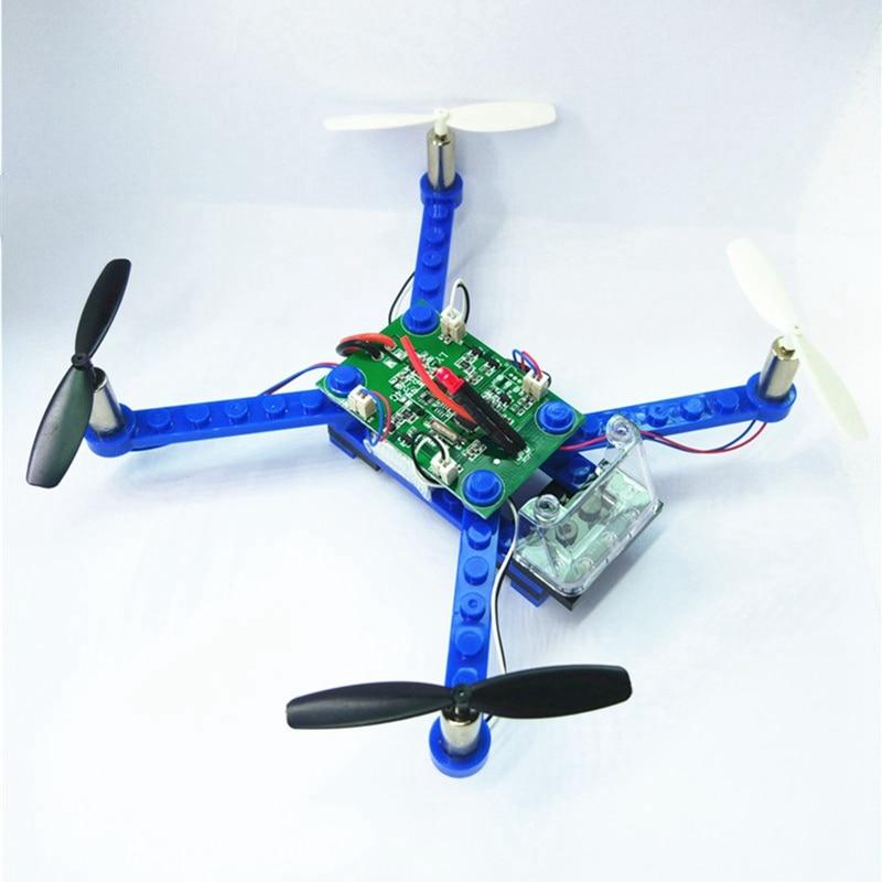 Assembled Drone Building Block Quadrocopter Mini Drones Rc Quadcopter 3d Bricks Diy Toys For Children Educational Brinquedos