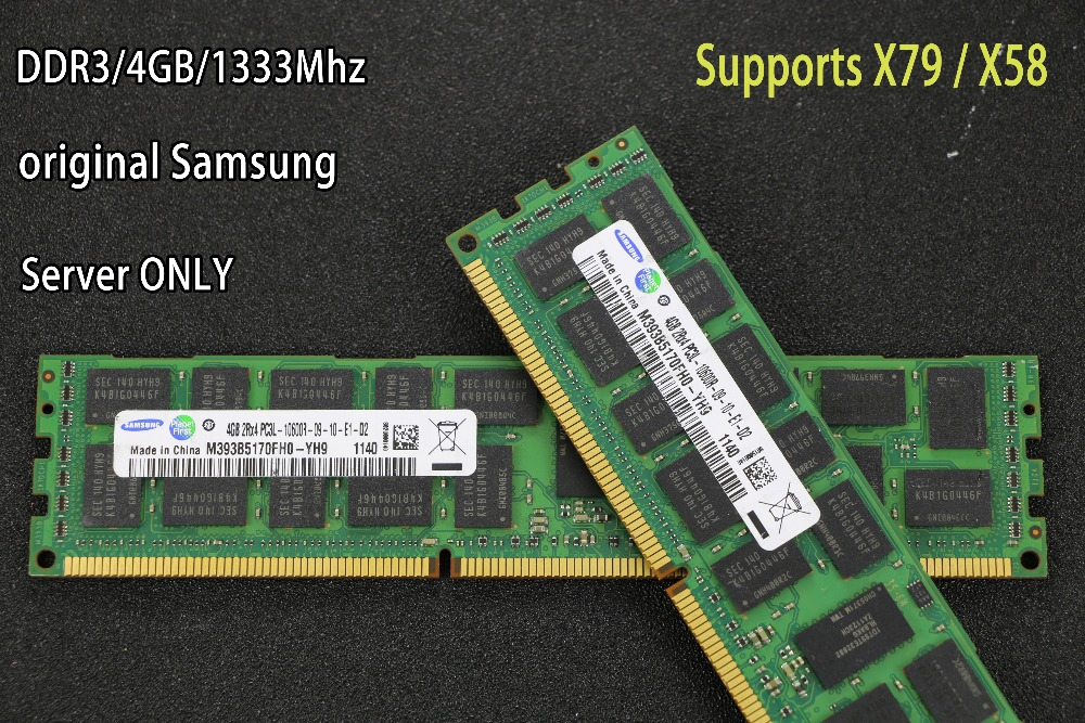 Samsung DDR3 4 gb 8 gb 16 gb serveur mémoire 1333 1600 mhz 1866 mhz ECC REG DDR3 PC3-10600R 12800R registre MÉMOIRE RAM RIMM X58 X79