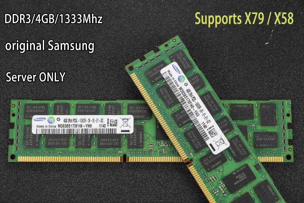 Samsung DDR3 4GB 8GB 16GB server memory 1333 1600MHz 1866Mhz ECC REG DDR3 PC3-10600R 12800R Register RIMM RAM X58 X79