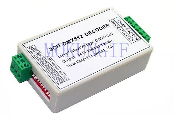 Ehrlichkeit 1 Stücke 3ch Dmx Dimmer Controller Dmx512 Decoder Für Led-lichtleiste Modul Streifen Ws-dmx-xb22-3ch PüNktliches Timing Rgb-controller Licht & Beleuchtung