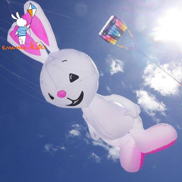 4.6 m Grande Rabbit Shape Soft Manga De Cometa Línea de Lavandería Para El Festival Decorativo Mostrar