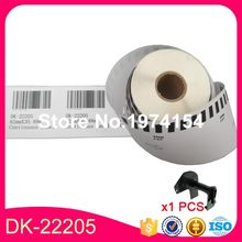 "5 Gulungan P-Touch Brother DK-22205 Label Kompatibel QL-710 Etiketten 62 Mm X 30.48M Terus Menerus Label 2- 3/7 ""X100' DK-2205(China)"