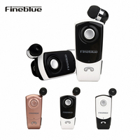 Fineblue F960 Bluetooth Earphone Wireless Headset Earbud Microphone Clip For Smartphone Drop Shipping