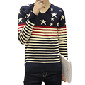 Sweater Men 2016 New Brand Autumn Winter Round Collar Knitted Pull Homme Plus Size Pullovers stripe leisure Warm men's clothing